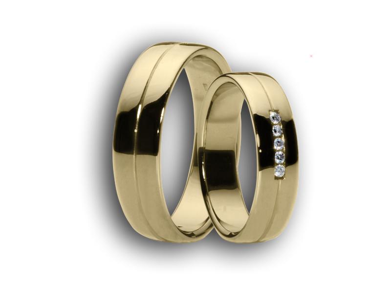 Snubní prsteny žluté č.57