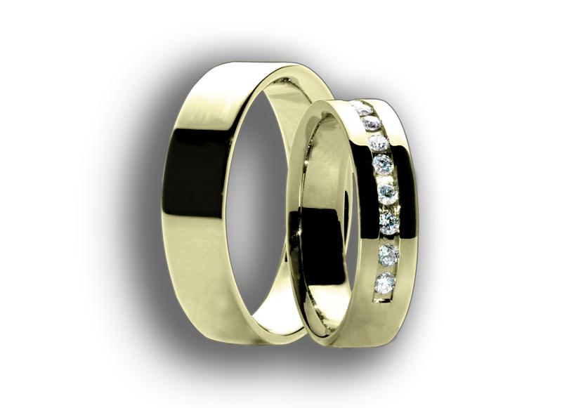 Snubní prsteny žluté 58