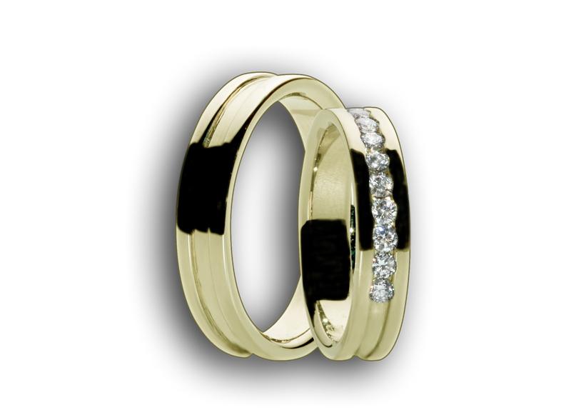 Snubní prsteny žluté 59