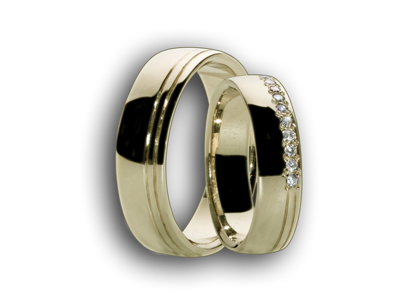 Snubní prsteny žluté č.55