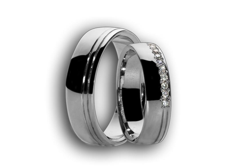Snubní prsteny bílé  6